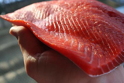 ... : Salmon with Orange-Balsamic Glaze / Roasted White Asparagus